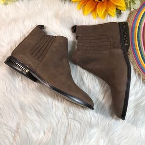 Michael Kors Leather Flat Ankle Booties 8.5